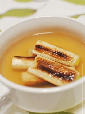 糖尿病 食事 メニュー 簡単 焼き葱のコンソメスープ